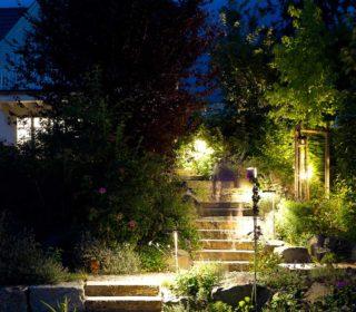 Beleuchtete Treppe outdoor