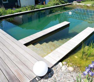 Schwimmteichtreppe
