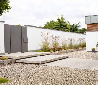 Vorgartengestaltung mit Steinen
